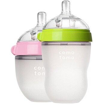 Comotomo زجاجة المولود الجديد زجاجة تستخدم في الرضاعة 150 مللي 250 مللي الوردي الأخضر ل Comotomo