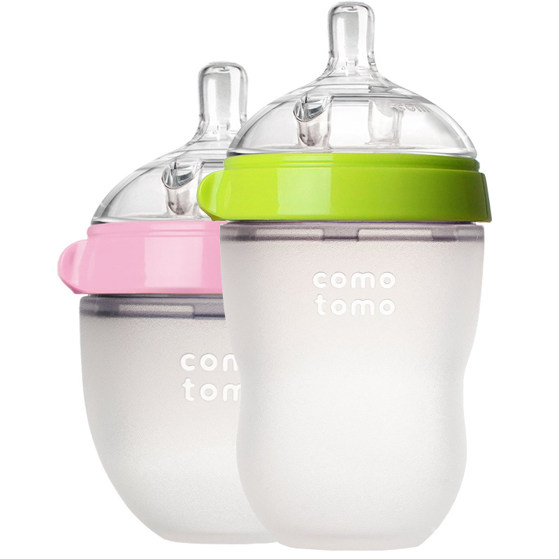Comotomo Bottle New Born Baby Feeding Bottle 150ml 250ml Pink Green  For Comotomo