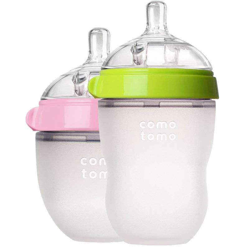 Comotomo Bottle New Born Baby Feeding Bottle 150ml 250ml Pink Green  For Comotomo