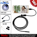 2pcs Android USB Endoscope 6 LED 5.5mm Lens Waterproof Inspection Borescope Tube Camera with 5M Cable