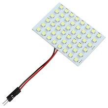Luz de coche 4W 3 adaptadores 48 SMD 3528, Panel de lectura para coche, lámpara blanca pura 6000K, luz de techo Interior Universal para coche