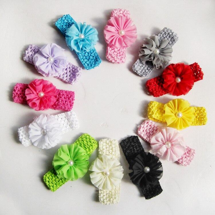 ᗐAccesorios de pelo regalo 2017 nuevos cabritos Niñas perla crochet ...