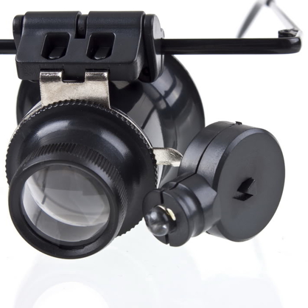 Image 2 - Outdoor tool Glasses Type 20X Watch Repair Magnifier with LED Light  New super discount Hot-in Outdoor Tools from Sports & Entertainment