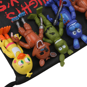 Image 2 - パックの 13 個fnaf pvcアクションフィギュアとバッグ 10 11.5 センチメートル 5 夜でフレディのフレディfazbearフォクシー人形おもちゃbrinqudoes