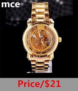 828c5fe09f8 Original Caixa + Novo esqueleto MCE relógio de ouro mulheres de luxo da  marca mecânico automático relógios de pulso Completa Aço relógio feminino à  prova d  ...