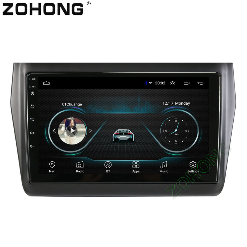 9inch 2 5D Android 8 1 Car Multimedia Player For Suzuki Swift 2017 2018 2019 Car