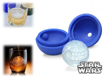 1Pcs Hot Creative Silicone Blue Wars Death Star Round Ball Ice Cube Mold Tray Desert Sphere Mould DIY