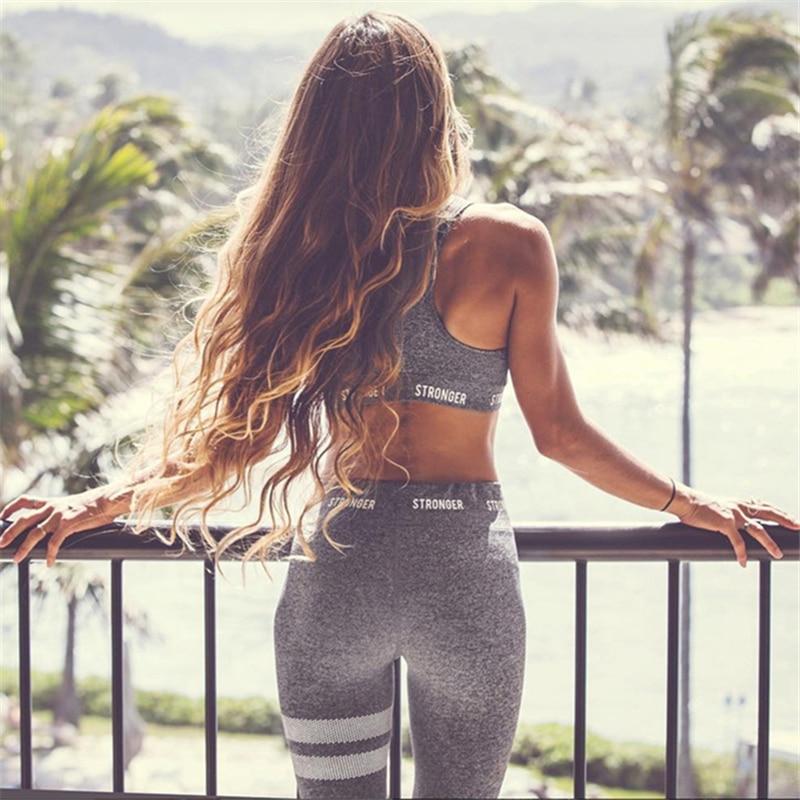 2018 mujer Yoga Sets Fitness chaleco traje de gimnasio ropa de entrenamiento Running tracksuit Pilato deportes desgaste trajes del deporte Yoga Pantalones