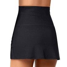 High Waist Bathing Swim Skirt Women Solid Black Blue Beach Skirts For Women Summer Swimwear Bathing