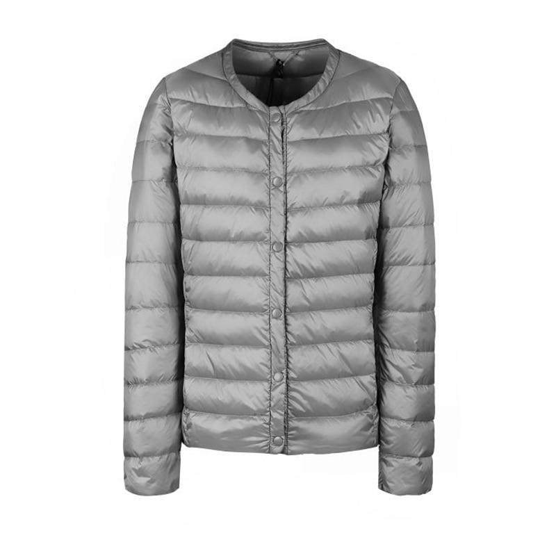 Image 4 - Fitaylor New winter Women Ultra Light White Duck Down Jacket  Short Coat Slim Casual Down Coats Female Plus Size S 3xl Warm ParkaDown  Coats