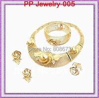 24 K Oro Tono Cristalli E Perle Grandi Set di Gioielli Per da Cerimonia nuziale Elegante di Lusso Collana Braccialetto Orecchini Anello Set di Moda!!