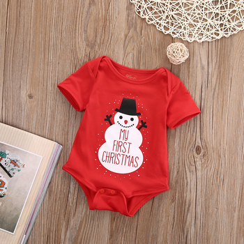 2018 New Christmas Dress Baby Boy And Baby Girl Snowflake