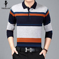 Troilus 2017 Classic Mens Polo Shirt Striped Long Sleeve Knitted Pullover Male Brand Clothing Men Business Slim Fit Polo Shirts
