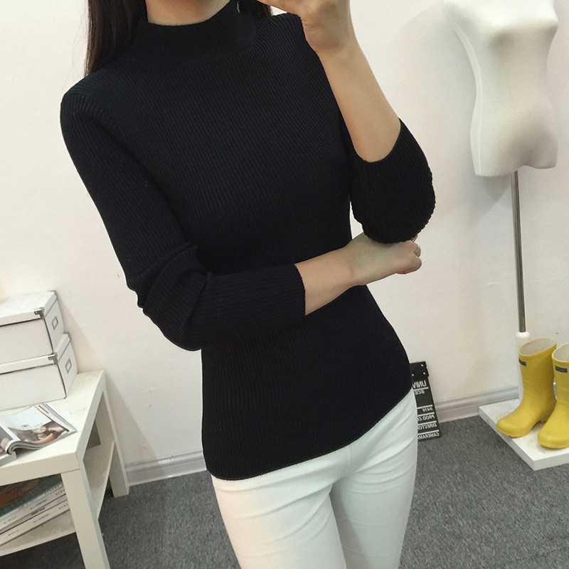 Aliexpress.com : Buy 2017 Solid Color Sweater Women Autumn Knitted ...
