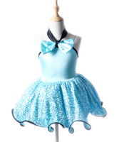 Hot Sale Kids Dance Leotards Dress Ballet Gymnastics Dresses Girls Lycra Sequins Cotton Ballet Dance Wear with Skirt