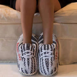 Image 4 - Unisex Fashion Shoe for Women 2019 Winter Warm Cotton Mens Slippers Couples Indoor Home Funny Shoes zapatos de mujer Free Size