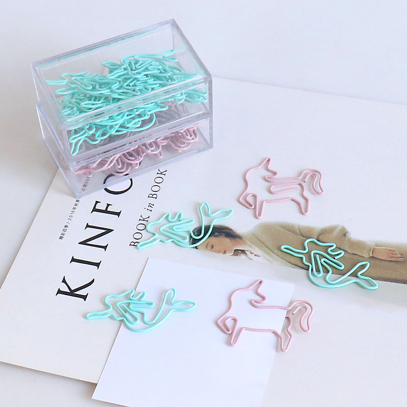 TUTU 20pcs Light Green Paper Cilp Butler In The Home Mermaid Shaped Paper Clips Great For Paper Clip Collector Office Gift H0181