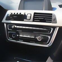 CITALL Хромированная передняя 4x панель приборной панели, Крышка центральной консоли+ u-образная Накладка для BMW 3 4 серии F30 F31 F32 F34 F36 316 318 320 420