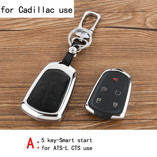 Genuine Leather CAR KEY CASE For CADILLAC ATS-L CTS Use Automobile Special-purpose CAR KEY HOLDER