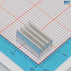 100 Шт. 7 мм х 6 мм х 12 мм Чистый Алюминий Охлаждения Fin Радиатора Теплоотвод