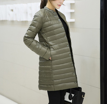 Down Coats Slim Solid Jackets