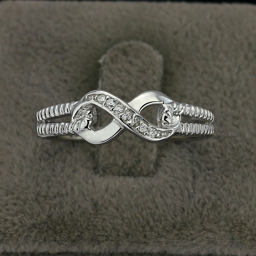 Sterling Silver 925 Infinity Ring