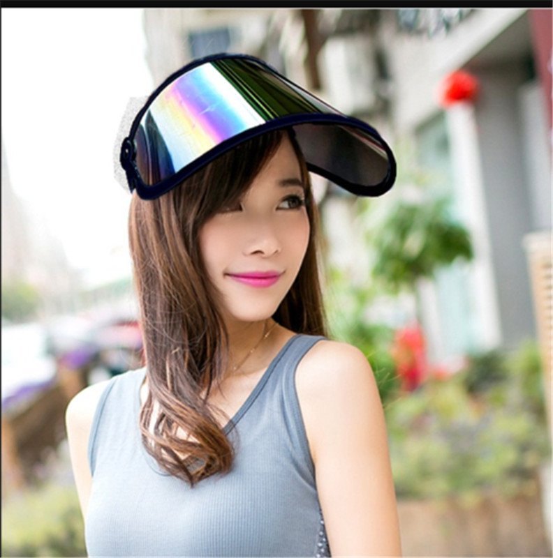 Summer Casual Unisex Sun Visor Hat Sun Anti UV Visor  Protection Cap Adjustable For Outdoor Practical Face Shield Hat