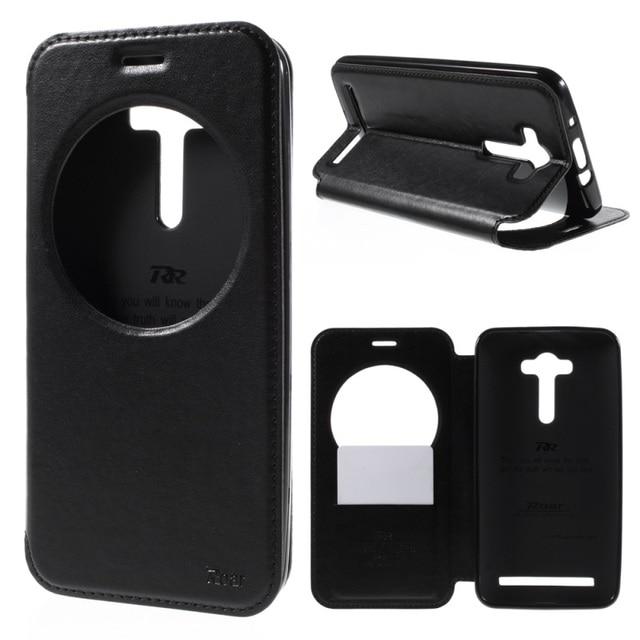 Roar Korea Noble View Window Leather Flip Cover Case For Asus Zenfone 2 Laser ZE550KL ZE551KL Z00LD 5.5 inch Phone Bags Cases