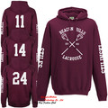 Allover Beacon Hills Lacrosse Hoodie Teen Wolf Stilinski Lahey McCall Hoody Top 4 Side Print