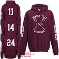 Allover faro Hills Lacrosse con capucha Teen Wolf Stilinski Lahey McCall con capucha Top 4 cara de impresión hacia