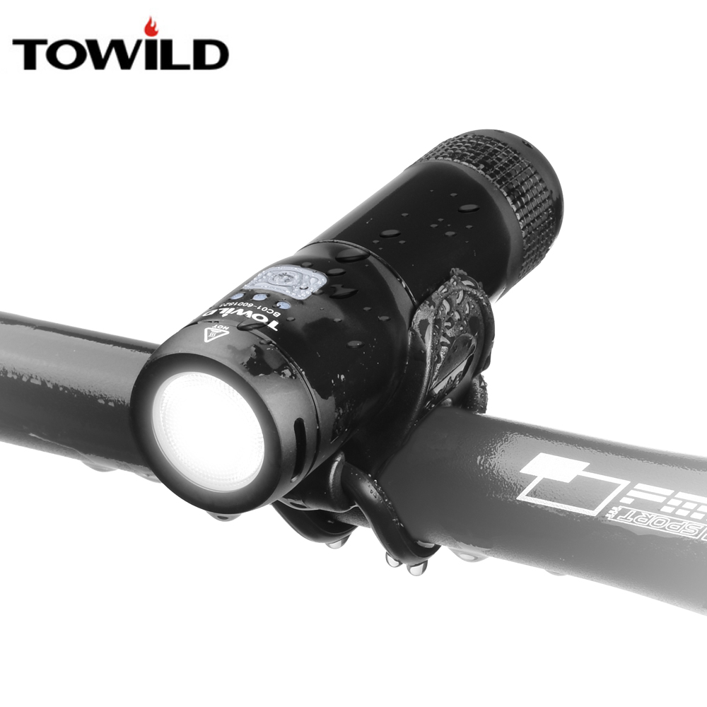 TOWILD Rechargeable Bicycle Light Cycling Riding Flashlight Waterproof Bike Headlight MTB Front Lamp Accessories