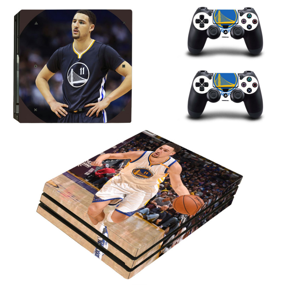 Golden State Warriors PS4 Pro Skin Sticker Decal for PlayStation 4 Console and 2 Controllers PS4 Pro Skin Sticker Vinyl