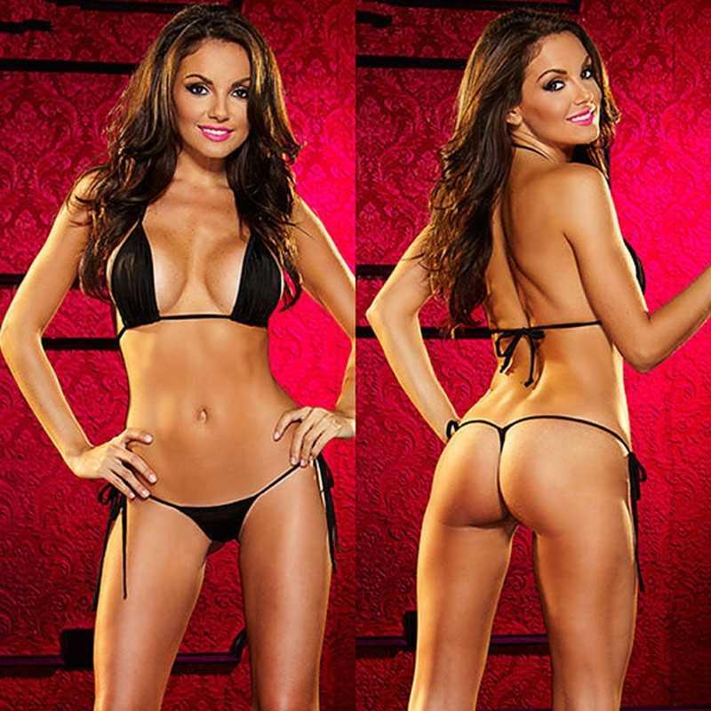 סקסי נשים מיקרו חוטיני G מחרוזת ברזילאי מיני למעלה חזיית ביקיני בגד ים בגדי ים W15