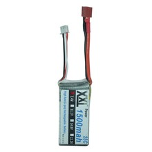 2pieces/lot  XXL Brand 7.4V 25C 1500mAh 2S Lipo Li-Po Lipoly Battery Batteria for RC Helicopter Airplane Car Boats