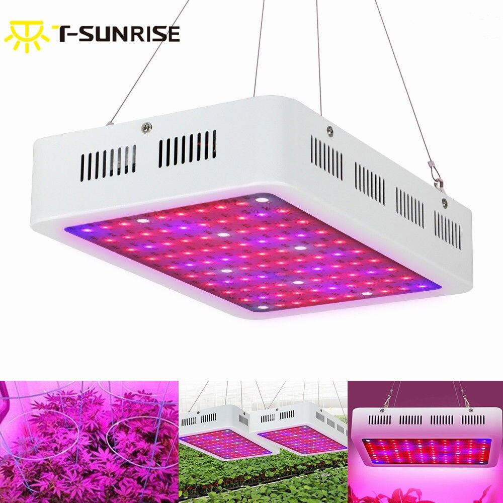 T-SUN 1 PZ Spettro Completo Principale Coltiva La Lampada di Pannello 300 W Led Pianta crescere Luce Migliore per la Coltura Idroponica Dell'interno Piante da fiore Bloom UV IR