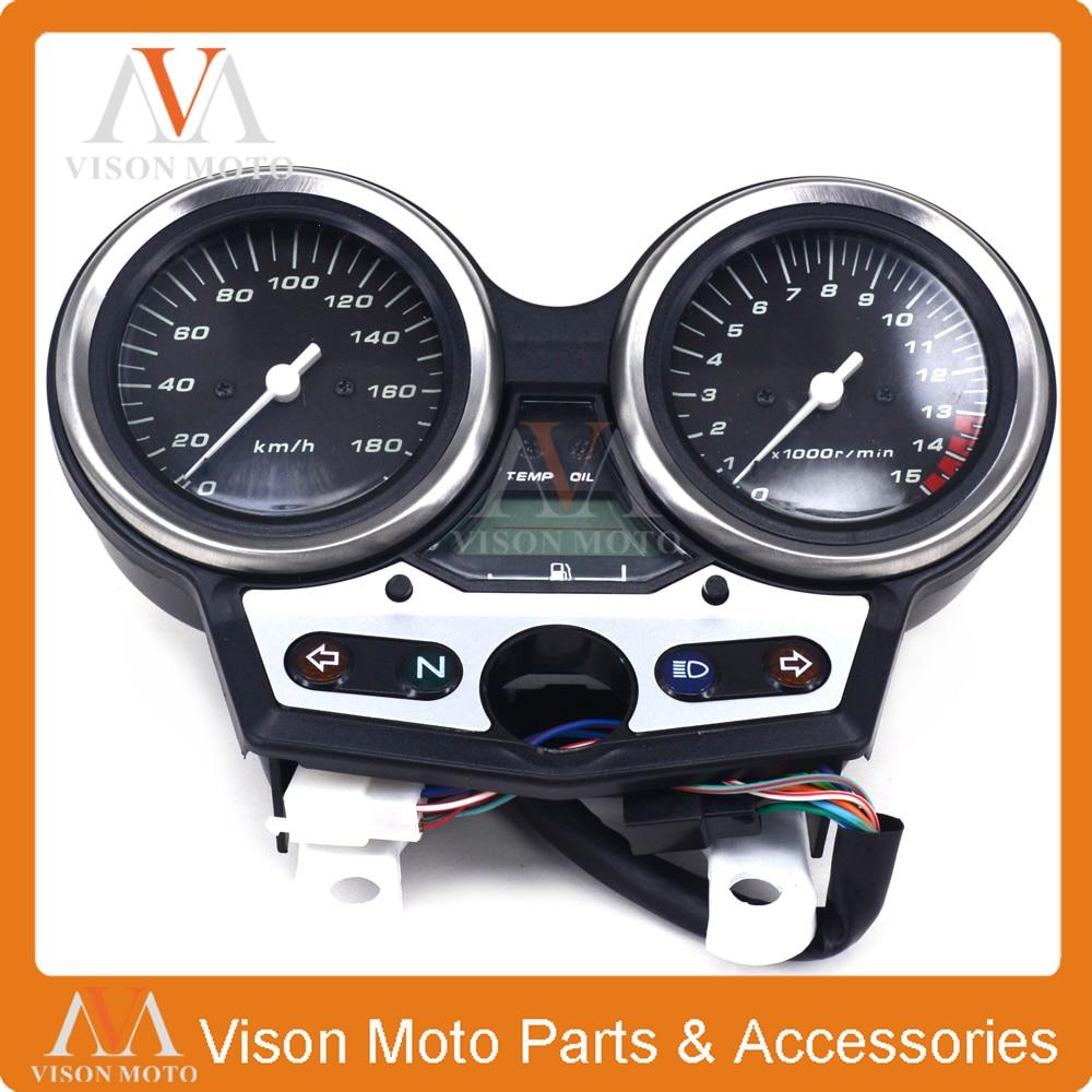 Motorcycle Speedometer Clock Instrument Gauges Odometer Tachometer  For HONDA CB400 VTEC I 1 scooter parts gauges cluster speedometer tacho odometer fits for kawasaki zrx400 zrx750 zrx1100 kmh free shipping