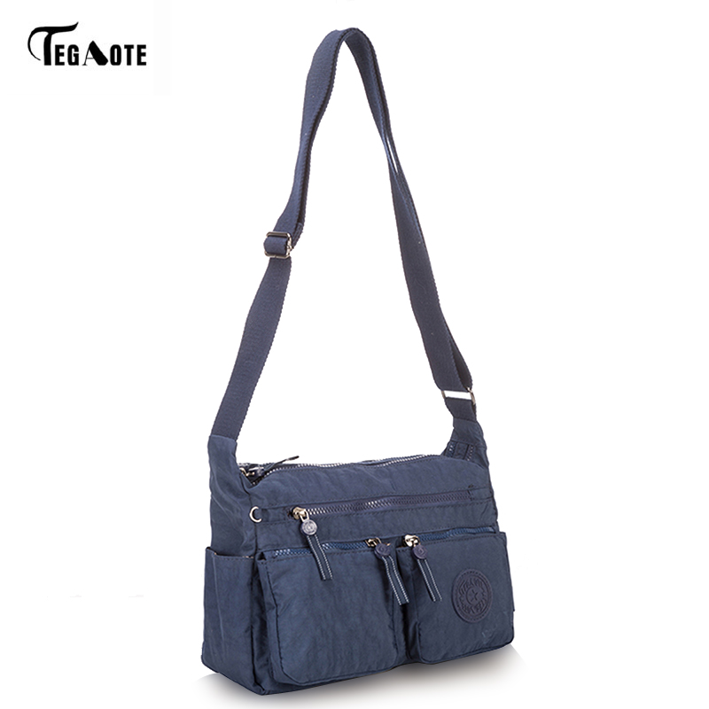 TEGAOTE Women's Messenger Bags Ladies Nylon Handbag Travel Casual Original Bag Female High Quality Large Capacity Crossbody Bag