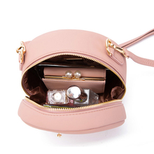 Women Shoulder Round Bag PU Leather Material