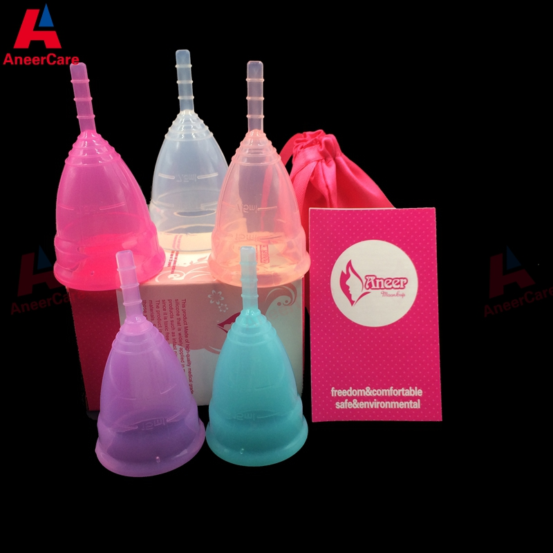10Pcs Hot Sale Medical Grade Silicone Menstrual Cup For Women Feminine Hygine