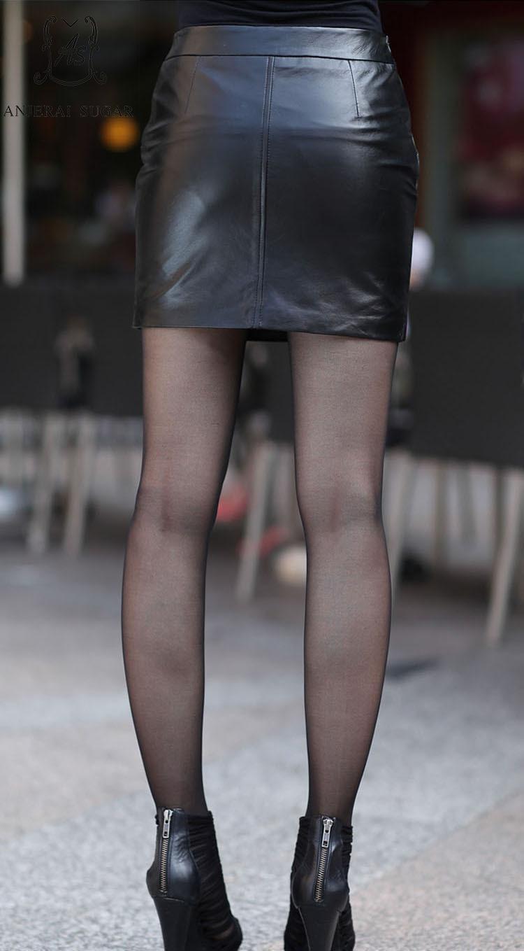 Court Sexy Ol Peau Jupe Bureau Mince Mouton Noir Femme En Jupes Automne Hanche 2018 Cuir Paquet De Crayon Véritable rxQodBeWC