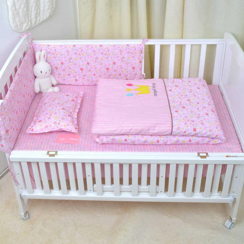 Детская кровать бампер комплект детского постельного белья с цветочным принтом дизайн хлопок малыш спальный безопасная Подушка Детская кроватка бампер детская защита для кроватки