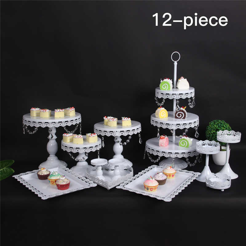 Superb 12Pcs Set Decoration Crystal 3 Tier Metal Cupcake Pink Birthday Funny Birthday Cards Online Elaedamsfinfo