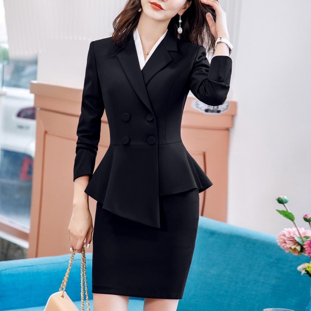 Pant Suit Office Clothes 4XL Plus Size 2 Piece Set Blazer Jacket Trousers Costume Interview Host Business Lady Work Suit ow0519 54