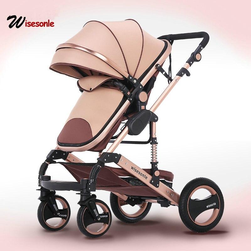 2018 nouveau bébé chariot haute paysage 2 à 1 bébé poussette double face enfants livraison gratuite en quatre saisons dans la russie