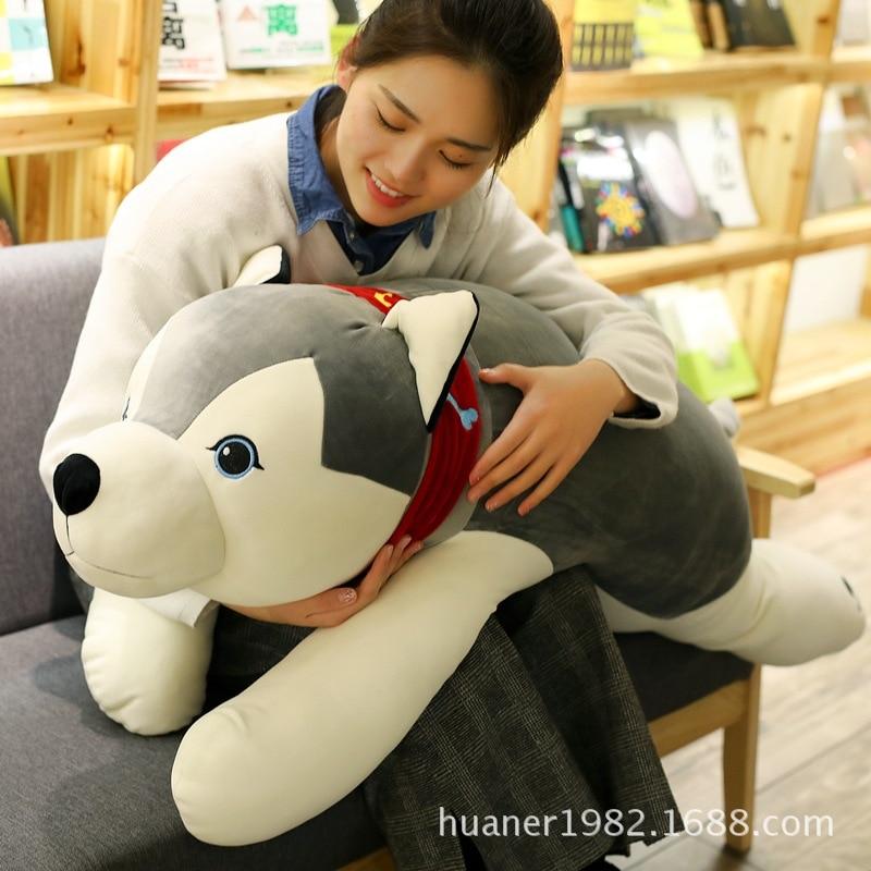 Bas coton peluche Husky chien poupée grande taille Super doux chien jouets pour enfants cadeaux