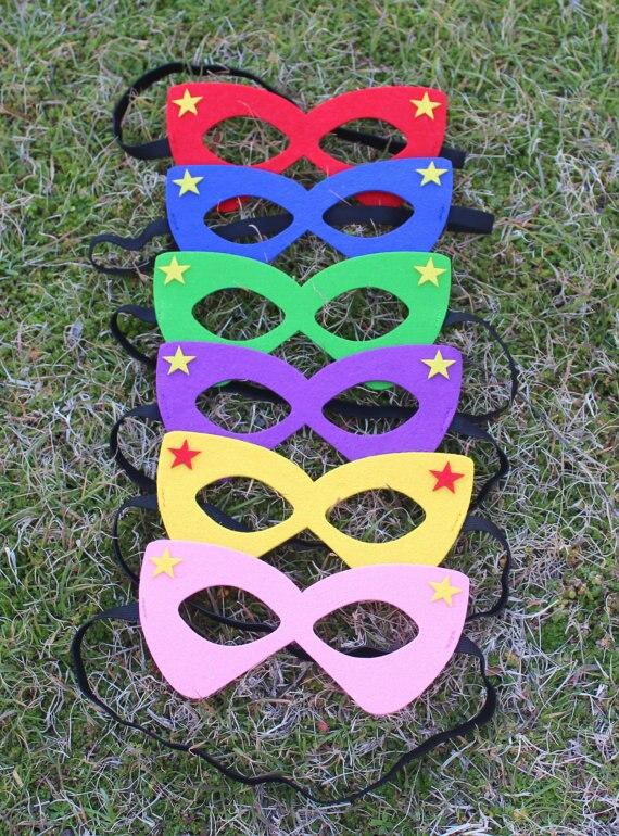 卸売マッチングあなた自身岬パーソナライズ子供のマスク誕生日ギフトカスタムスーパーheroパーティーマスク