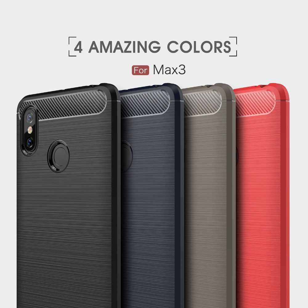 シャオ mi mi 最大 3 ケースシリコーン炭素繊維電話バックカバー Xio mi mi 最大 3 プロ mi × 2 S 2 最大 3 PocoPhone F1 Coques 耐衝撃