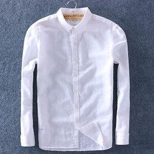 Image 4 - Schinteon Men Spring Summer Cotton Linen Shirt Slim Square Collar Comfortable Undershirt Male Plus Size