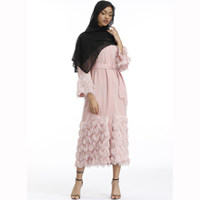 Muslim Velvet Abaya Maxi Dress Nida Cardigan Long Robe Gowns Jubah Kimono UAE Ramadan Arab Turkey Islamic Kaftan Worship Service