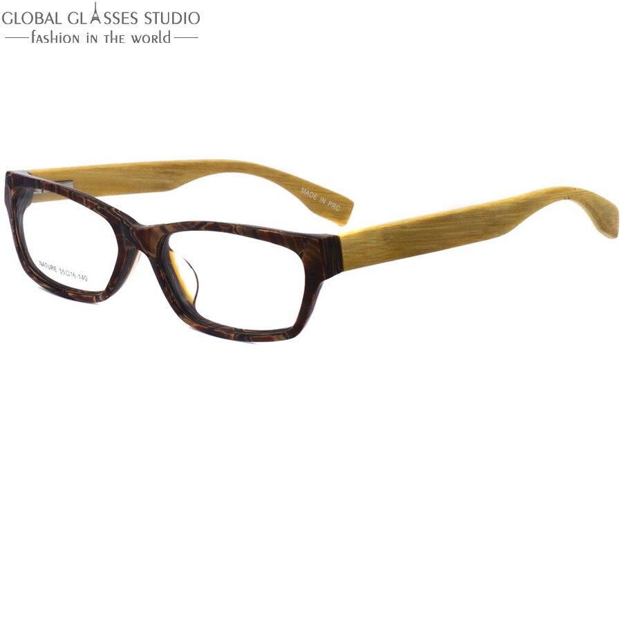 ④Demi color acetato Marcos vintage bambú templo óptico Gafas ojo ...